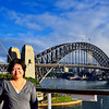 Beth with the Sydney Harbor Bridge at the background.