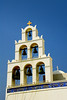 A church bell tower in Oia, Santorini, Greece.