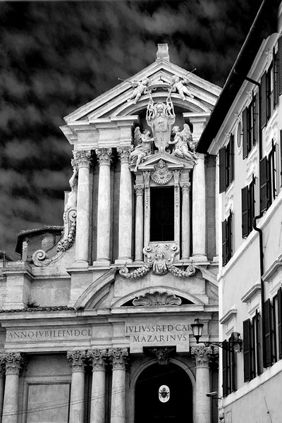 CHURCH AT THE CORNER OF VINCENZO LUCHESI & VIA SCUDERIE, ROME, ITALY
