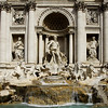 THE TREVI FOUNTAIN, ROME, ITALY : The Trevi Fountain or in Italian, Fontana di Trevi is the largest (standing 25.9 meters or 85 feet high and 19.8 meters or 65 feet wide) and most ambitious of the Baroque fountains of Rome. It is located in the rione of Trevi.