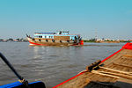 MEKONG RIVER, VIETNAM : The Mekong River is the 13th. longest river in the world. It starts in Tibet then runs through China, Myanmar, Thailand, Laos, Cambodia and Vietnam. It outflows into Mekong Bay in Vietnam.