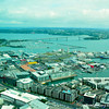 A view of the city of Auckland from the Sky Tower.