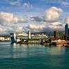 Port of Honolulu, Oahu Island, Hawaii Island group, USA