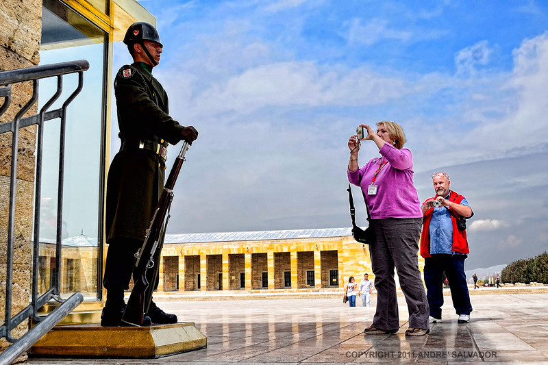 The guard at the Ataturk Museum and Mausoleum in Ankara, Turkey.