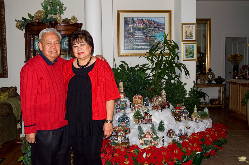 The host Nick and Lilia Suarez.