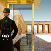 A non-moving guard at the Ataturk Mausoleum and Museum in Ankara, Turkey.