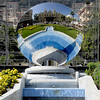A reflective dish on top of a fountain in Monte Carlo.