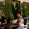 Carol and Beth at the outdoor dining area.